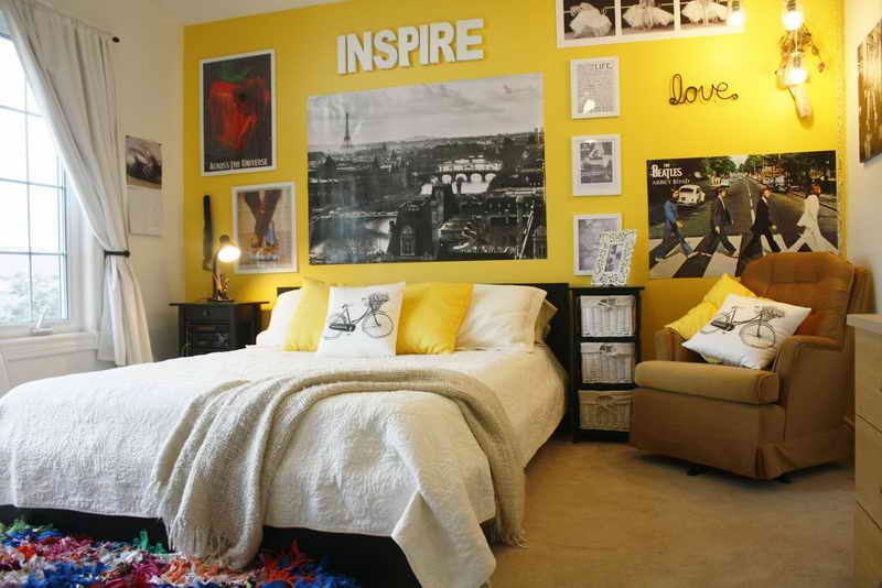 Purple Yellow Room Ideas