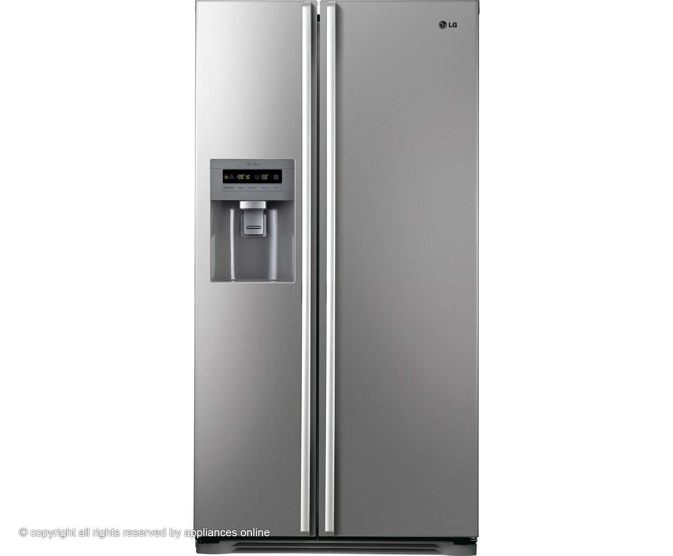 Pvfv Freestanding American Fridge Freezer Platinum Silver