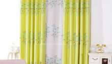 Quality Linen Cotton Blend Fabric Bright Yellow Leaf
