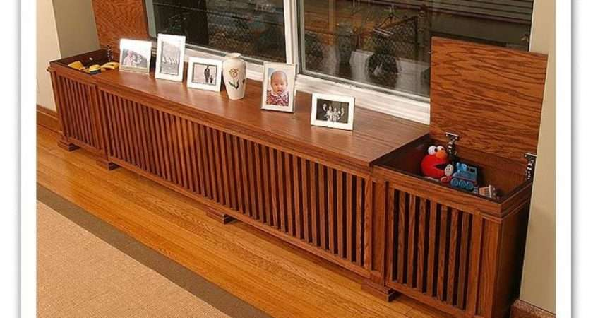 Radiator Covers Looks Like Old Record Box Maybe Hidden Speakers