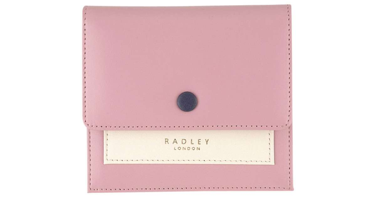 Radley Hatton Leather Small Flapover Purse Pink Lyst
