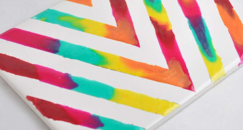 Rainbow Glass Stained Art Tile Project