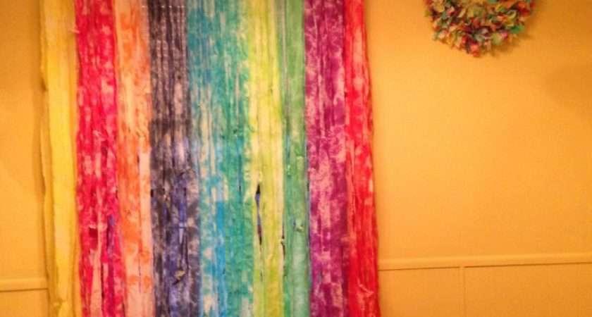 Rainbow Tie Dye Curtains Kim Colorful Crafts