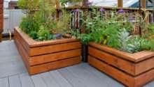 Raised Wooden Garden Bed Designs Examples