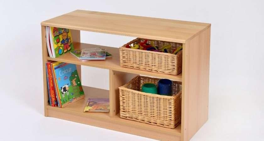 Range Open Bookcase Shelf Unit Wicker Baskets