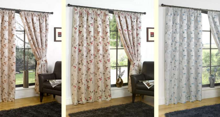 Ready Made Luxury Curtains Printed Design Choose Colours Sizes