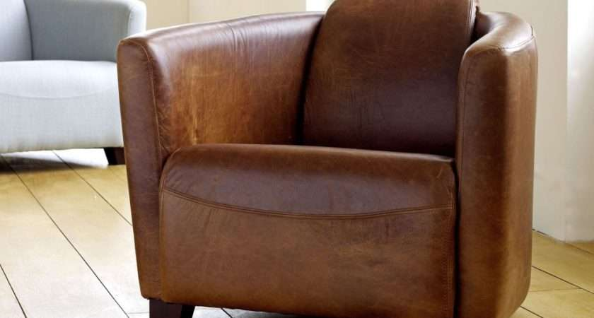 Really Comfortable Chairs Leather Tub Chair Small