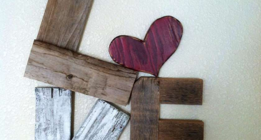 Really Cool Rustic Love Reclaimed Wood Valentine
