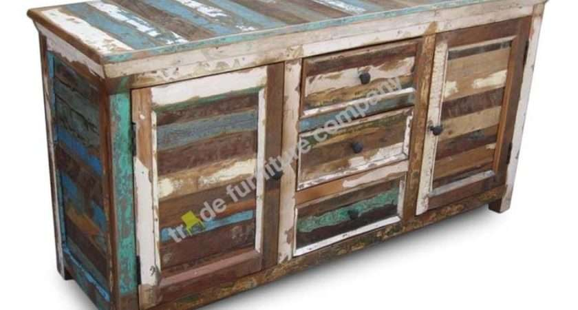 Reclaimed Indian Furniture Sheesham Large Sideboard Ebay