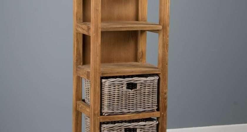 Reclaimed Teak Storage Unit Chest Shelves