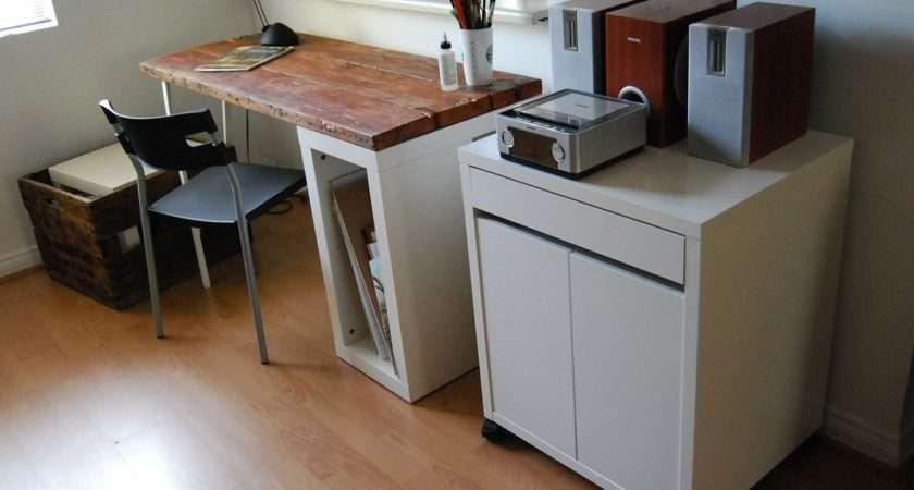 Reclaimed Wood Desk Ikea Hackers
