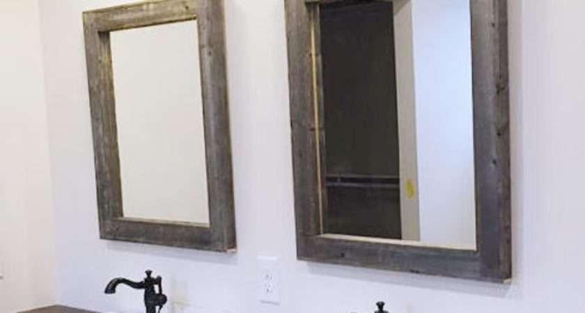 Reclaimed Wood Mirrors Rustic Bathroom Mirror