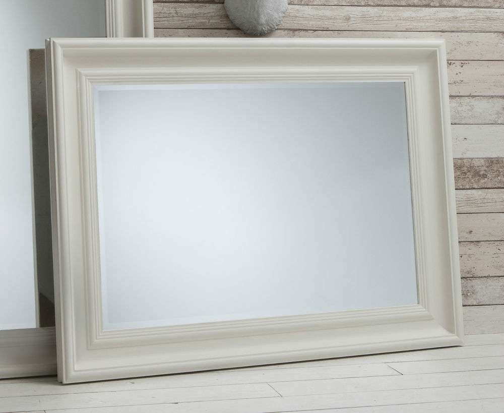 Rectangle Overmantle Fireplace Bevelled Wall Mirror Ebay