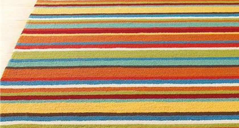 Rectangular Striped Rugs Your Living Room Cute