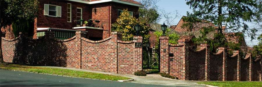 Recycled Brick Fence Concave Edge Panels