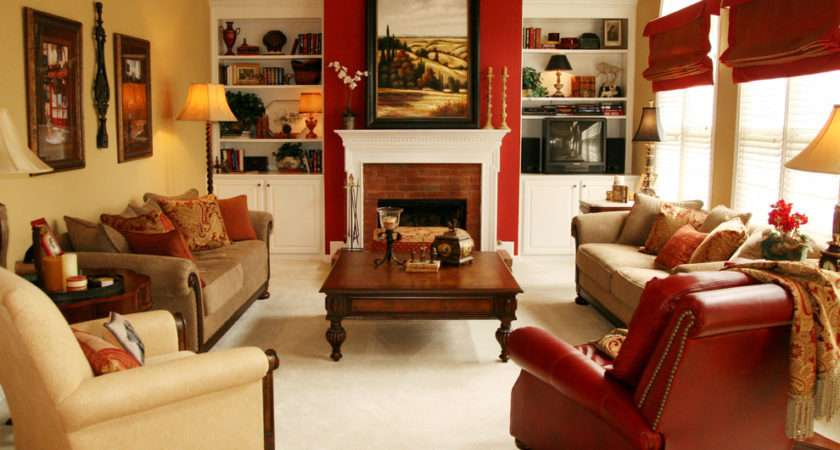 Red Accent Chair Living Room Decorating Ideas