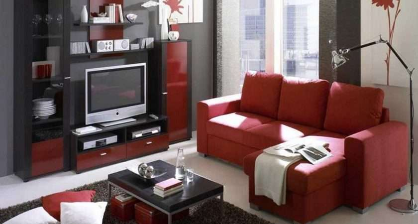 Red Black Grey Living Room Ideas