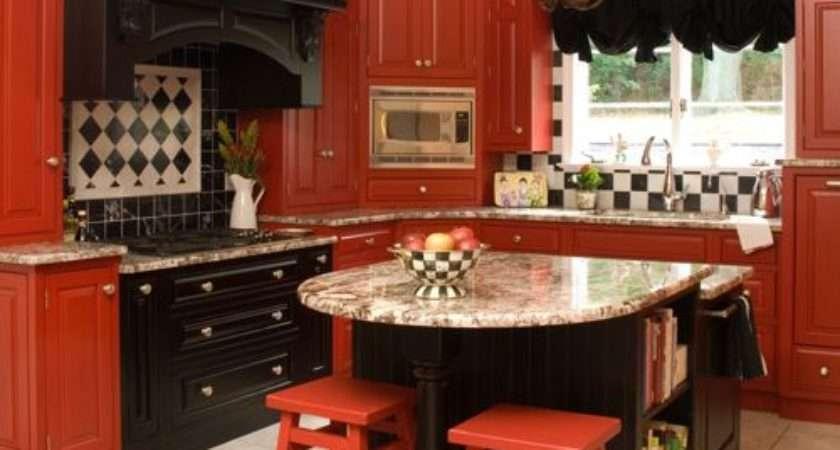 Red Black Kitchen Home Design Ideas Remodel