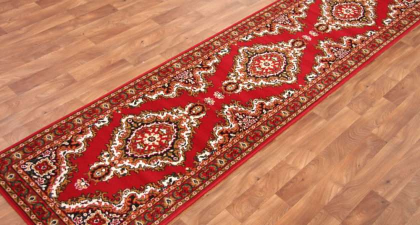 Red Cottage Style Long Hall Runner Rugs Cheap Carpet Mats New Ebay