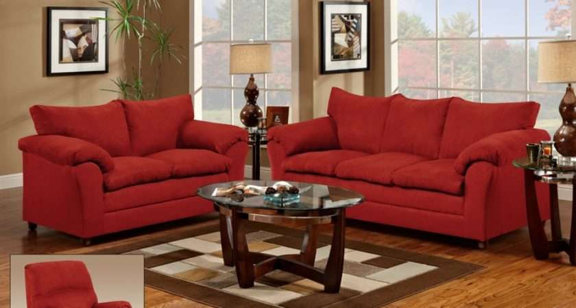 Red Couch Loveseat Living Room Rooms Chocolate Gail