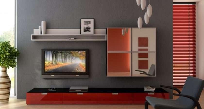 Red Gray Small Living Room Apartment Interior Design Ideas