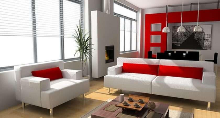 Red Grey Black Living Room Decor Decorating