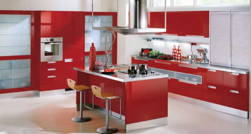 Red Kitchen Cabinets Barn Black