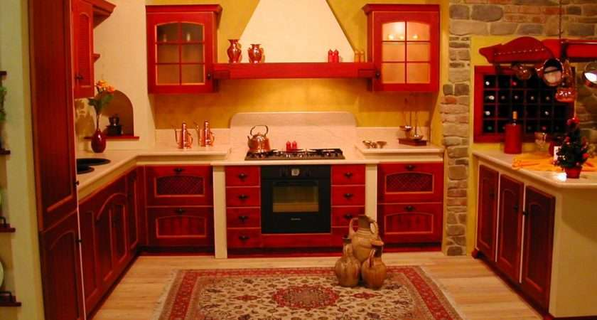 Red Kitchen Cabinets Interior Design