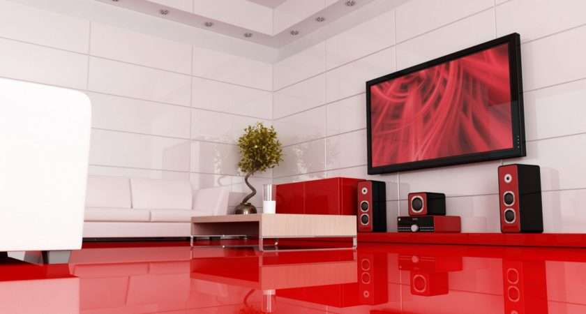 Red Living Room Home Theater Imgprix