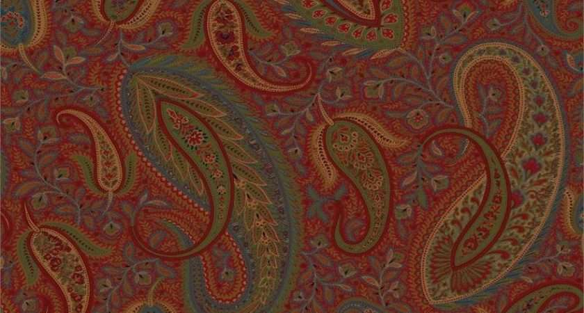Red Modern Paisley