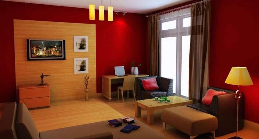 Red Orange Design Living Room House