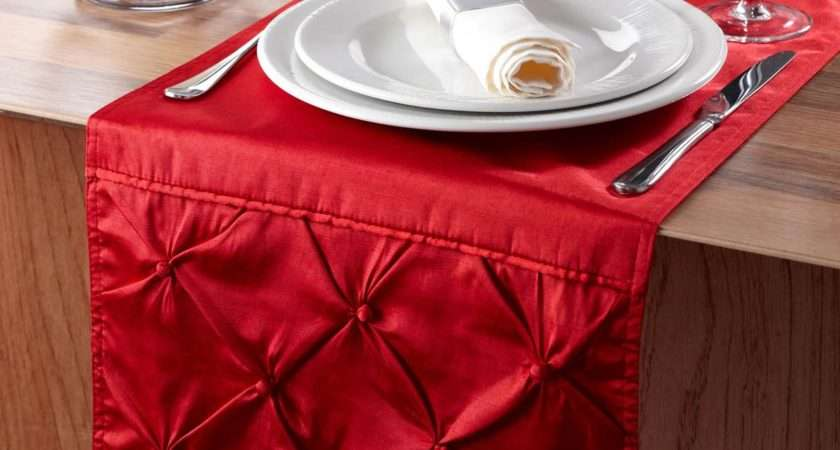Red Sorrento Table Runner Complete Look Your Dining