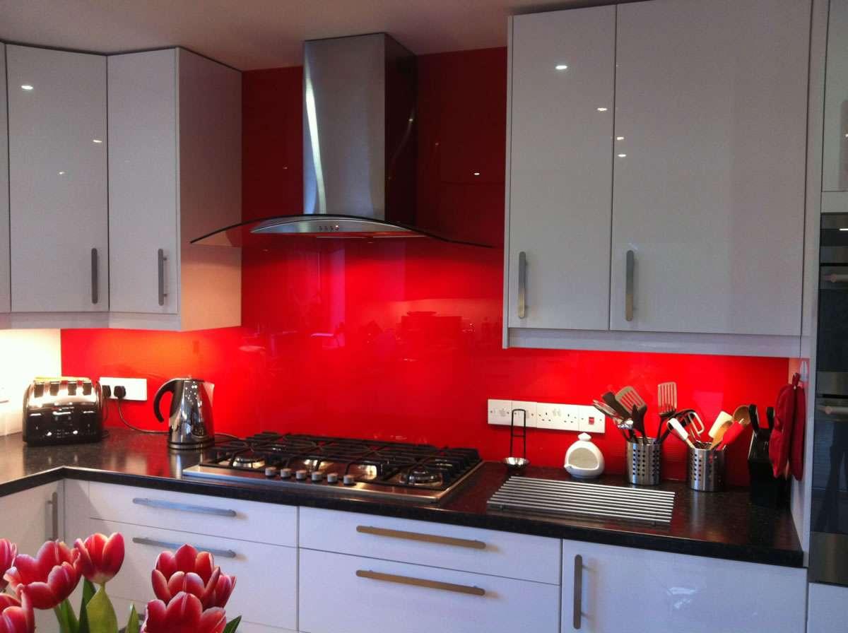 Red Splashback Bespoke Glass Splashbacks Opening Design