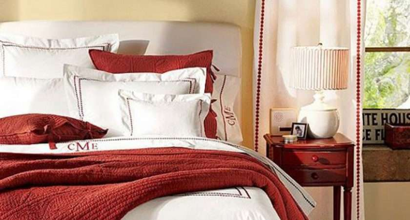 Red White Bedding Decor Iroonie