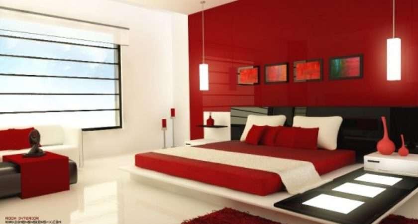 Red White Black Bedroom Glamour Romantic Bedrooms Decor