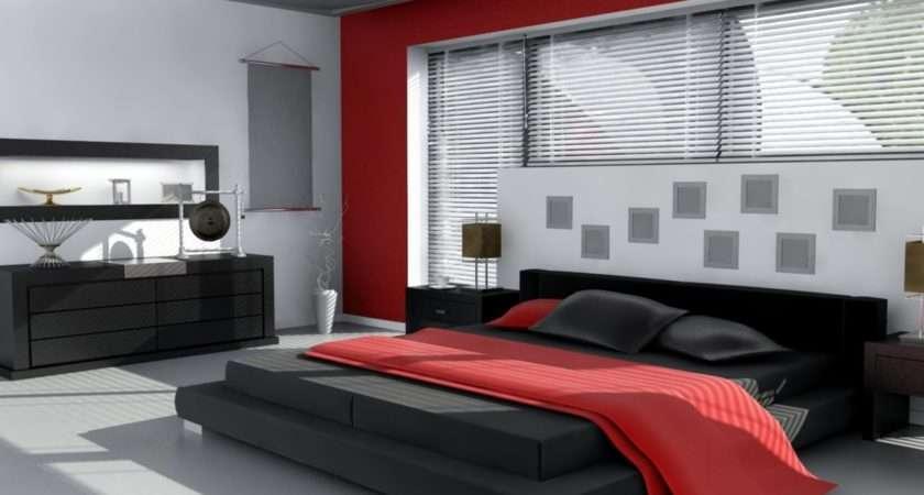 Red White Black Bedroom