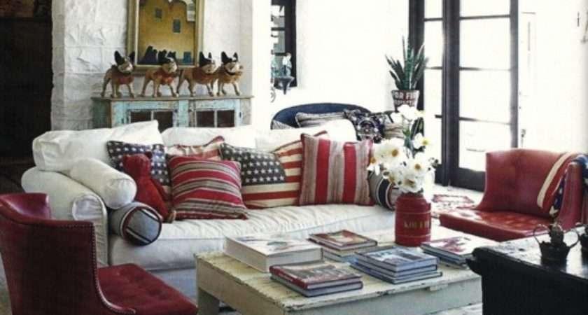 Red White Blue Interior Djd Design