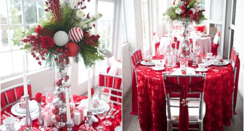 Red White Christmas Tablescape Bride Link