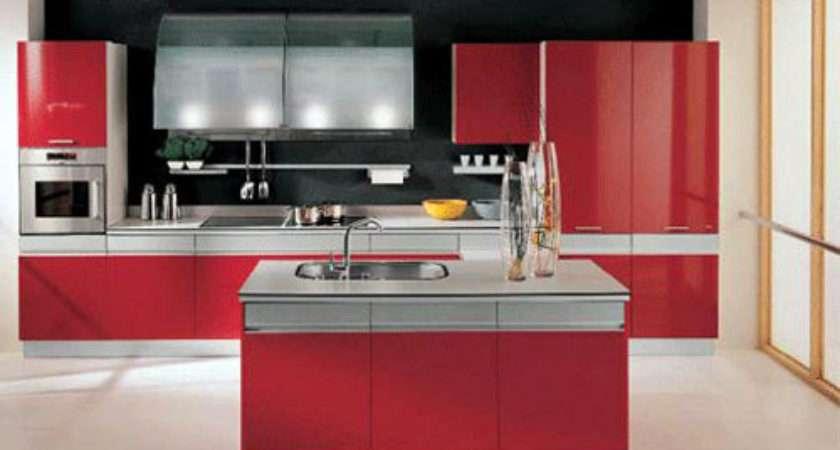 Red White Kitchen Design Ideas Home