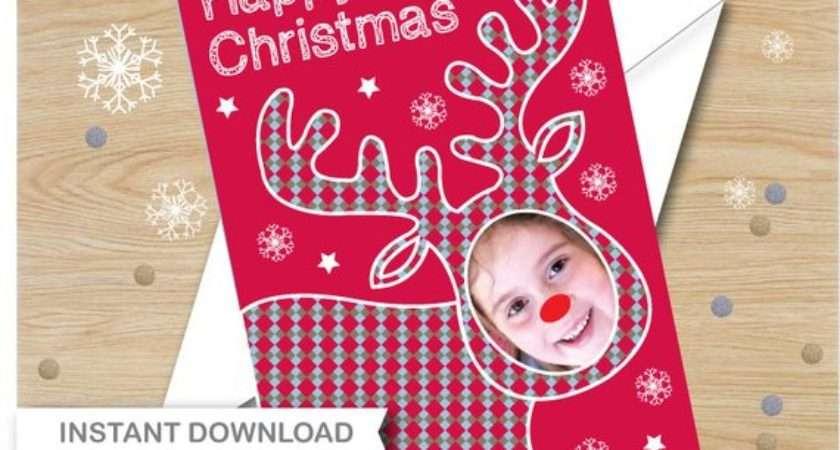 Reindeer Christmas Card Instant Digital Greetings