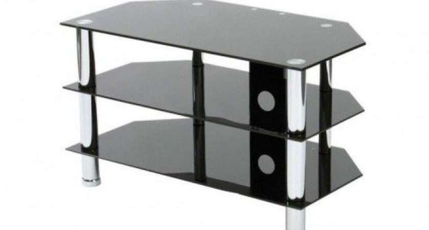 Related Ideas Black Glass Stands Argos