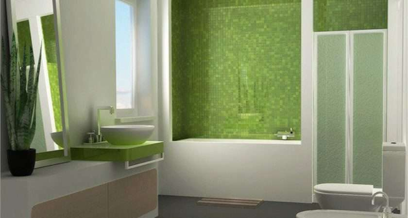 Relaxing Fresh Green Bathroom Designs Home Design