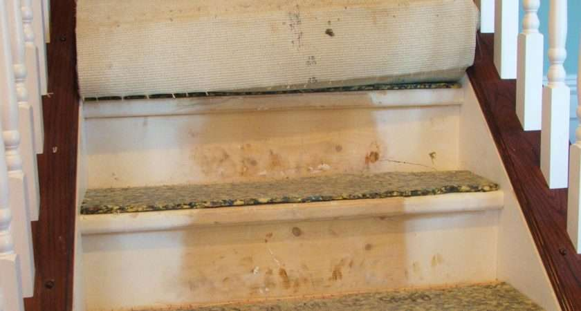 Remodelaholic Under Carpeted Stair Wooden Tread Makeover Diy