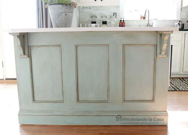 Remodelando Casa Kitchen Island Painted Ascp Duck Egg Blue
