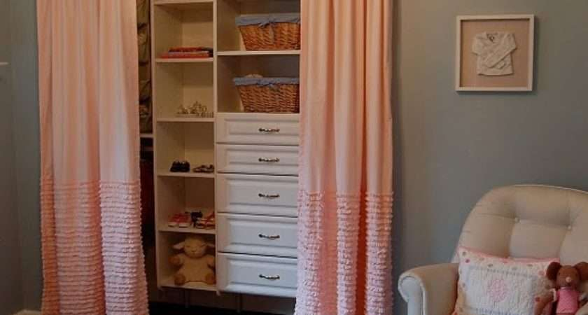 Remove Closet Doors Put Curtains Build New Shelves