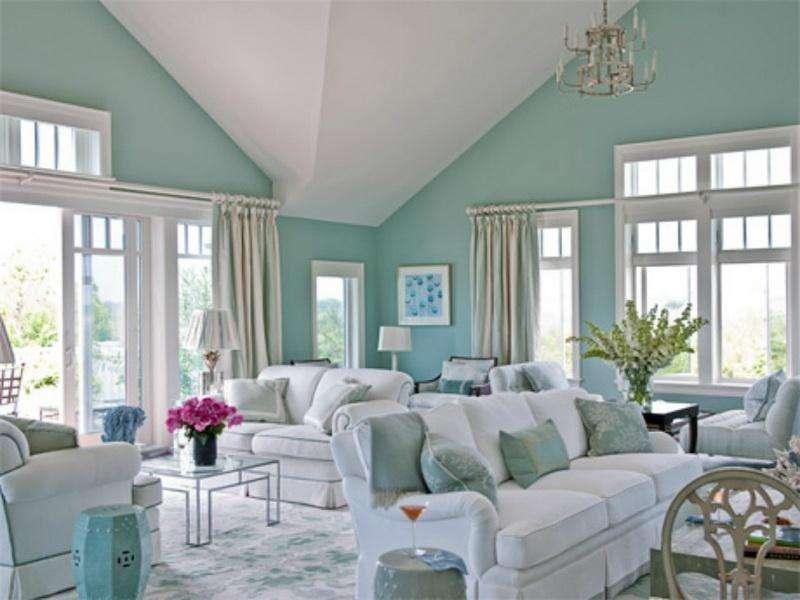 Repairs Aqua Color Paint Living Room Make