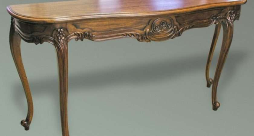 Replica Furniture French Style Console Table Polished
