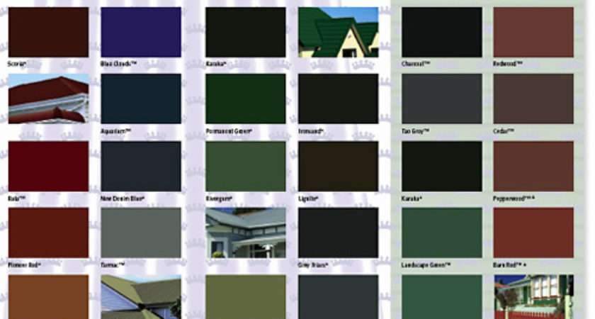 Resene Paints Ltd Crown Roof Colour Chart