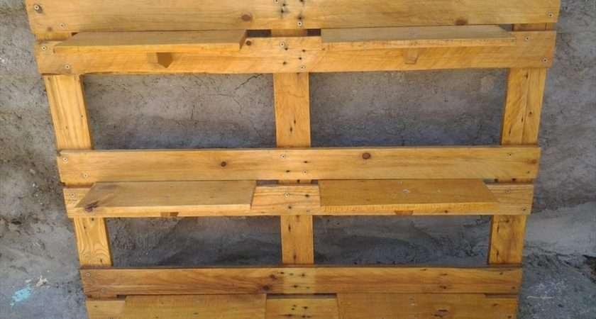 Reshaped Pallet Garden Shelving Unit