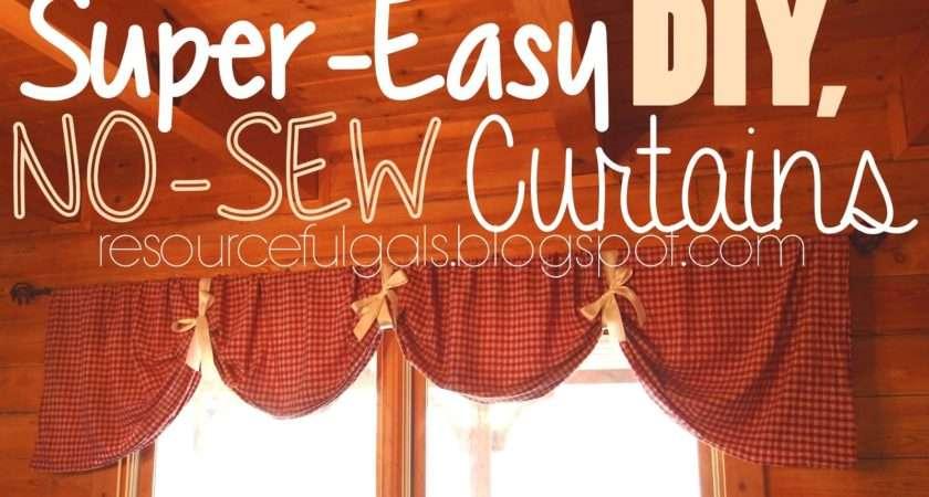 Resourceful Gals Super Easy Sew Diy Curtains